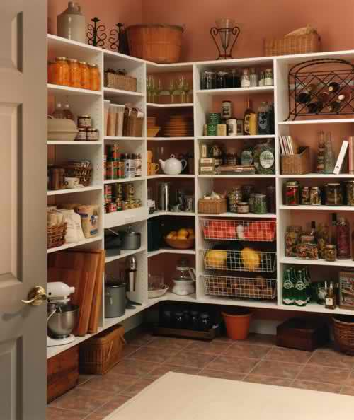 Effective Pantry Shelving Designs For Well Organized: Organized Pantry And Pantry Tips
